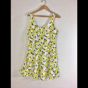Divided by H&M Dress Lemon Print Sz. 14